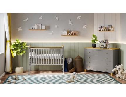 חדר לתינוק לוטם לבן שילוב טבעי קולקצייה 2021