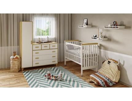 חדר לתינוק יעל לבן שילוב עץ טבעי קולקצייה 2021