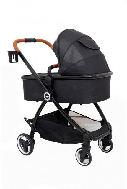עגלה משולבת MOM דגם ZOE צבע ריפוד שחור