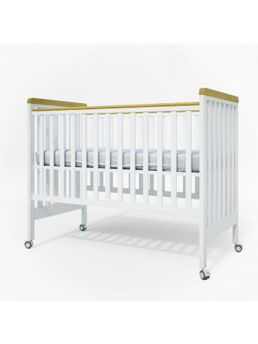 מיטת תינוק דגם 2015 לבן טבעי