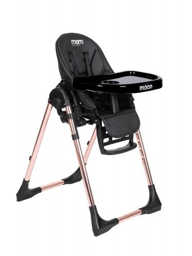 """כסא אוכל """"moom"""" רוז גולד שחור"""