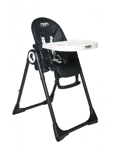 כסא אוכל Q1 ריפוד שחור לבן